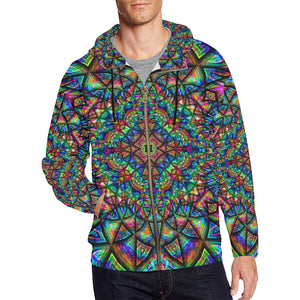 Meditative Thoughts All Over Print Full Zip Hoodie for Men (Model H14)