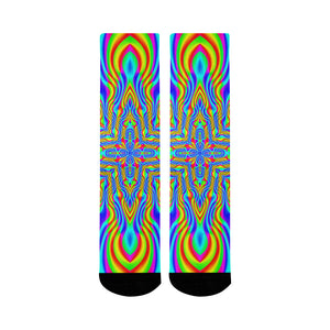 Higher Frequencies Mid-Calf Socks (Black Sole)