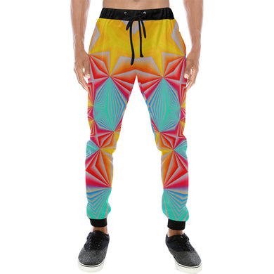 Vortex Men's All Over Print Sweatpants (Model L11)