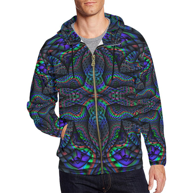 Elemental Water All Over Print Full Zip Hoodie for Men (Model H14)