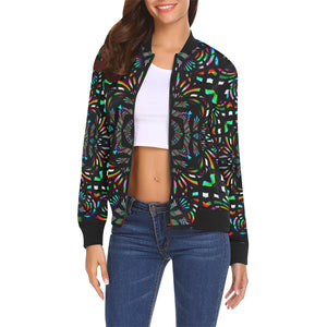Cathedral All Over Print Bomber Jacket for Women (Model H19)