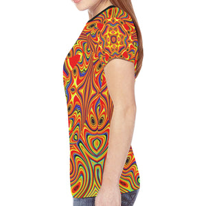 Samsara New All Over Print T-shirt for Women (Model T45)