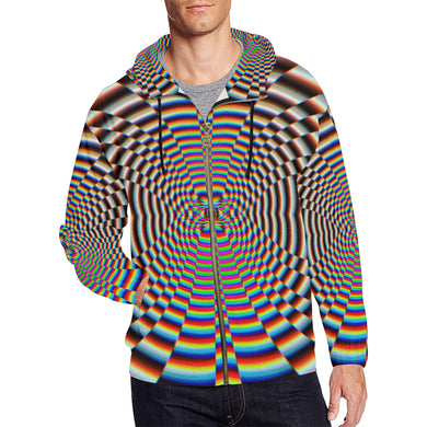 Psychosis All Over Print Full Zip Hoodie for Men (Model H14)