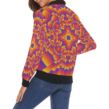 Pure Power All Over Print Bomber Jacket for Women (Model H19)