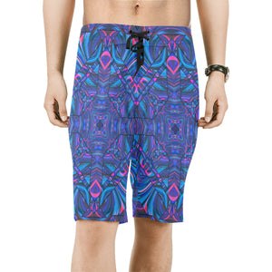 Blue Sector Men's All Over Print Board Shorts (Model L16)