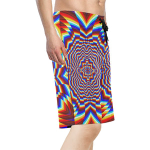 Focused Men's All Over Print Board Shorts (Model L16)