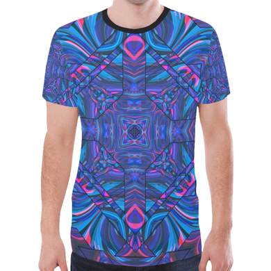 Blue Sector New All Over Print T-shirt for Men (Model T45)