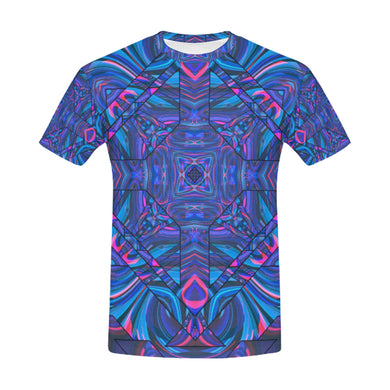 Blue Sector All Over Print T-Shirt for Men (USA Size) (Model T40)