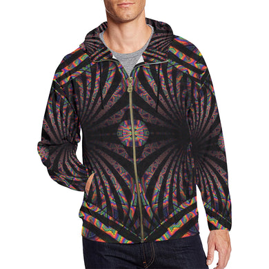 Hidden Place All Over Print Full Zip Hoodie for Men (Model H14)