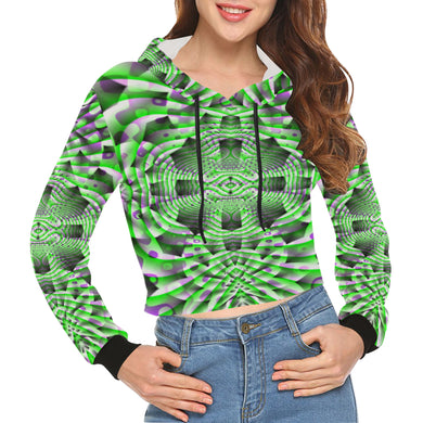 Mystic Motions All Over Print Crop Hoodie for Women (Model H22)