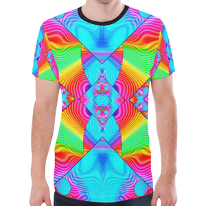 Rainbowdelik New All Over Print T-shirt for Men (Model T45)