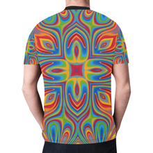 Lit New All Over Print T-shirt for Men (Model T45)
