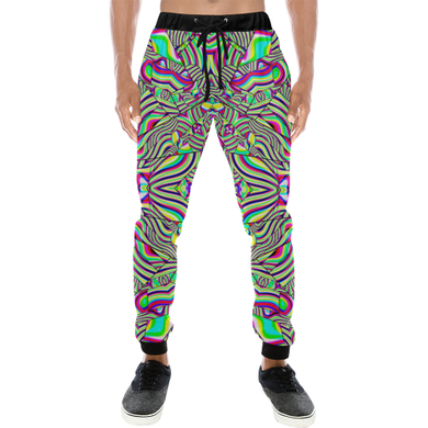 No Signal Men's All Over Print Sweatpants (Model L11)