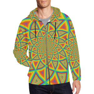 Colorspiral All Over Print Full Zip Hoodie for Men (Model H14)