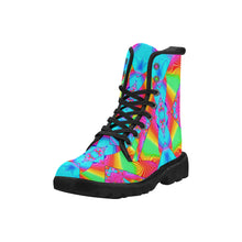 Rainbowdelik Martin Boots for Men (Black) (Model 1203H)
