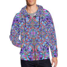 Colorburst All Over Print Full Zip Hoodie for Men (Model H14)
