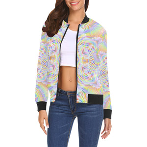 Pure Love All Over Print Bomber Jacket for Women (Model H19)