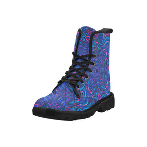 Blue Sector Martin Boots for Women (Black) (Model 1203H)