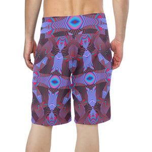 Artificial Intelligence Men's All Over Print Board Shorts (Model L16)