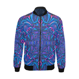 Blue Sector All Over Print Bomber Jacket for Men (Model H19)