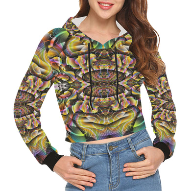 Ayahuasca All Over Print Crop Hoodie for Women (Model H22)