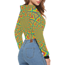 Colorspiral All Over Print Crop Hoodie for Women (Model H22)