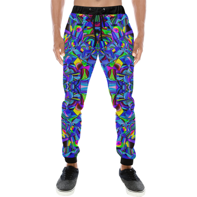 Hope in Blue Men's All Over Print Sweatpants (Model L11)