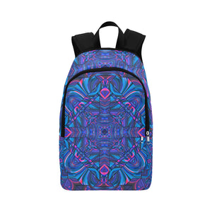 Blue Sector Fabric Backpack for Adult (Model 1659)