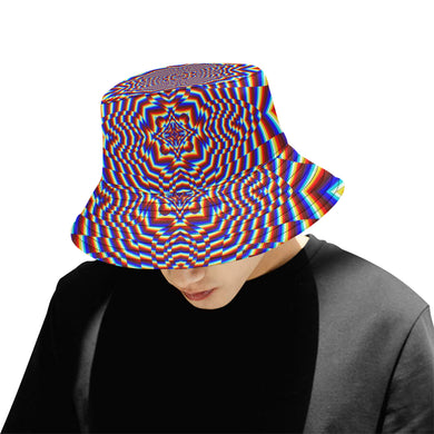 Focused All Over Print Bucket Hat for Men