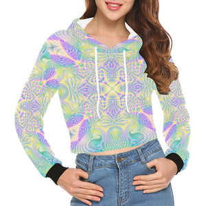 Celestial Terra All Over Print Crop Hoodie for Women (Model H22)