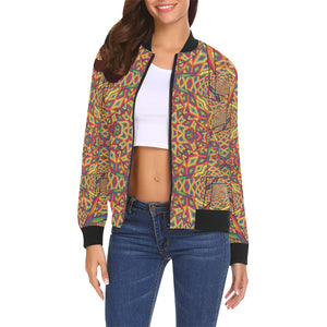 Beauty in Chaos All Over Print Bomber Jacket for Women (Model H19)