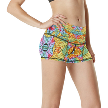 Eye of the Sun Women's All Over Print Yoga Shorts (Model L17)