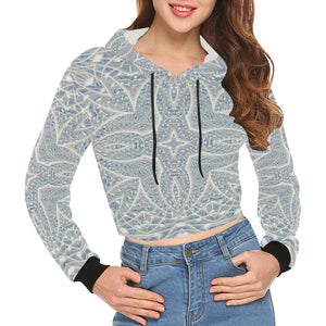 Elemental Air All Over Print Crop Hoodie for Women (Model H22)