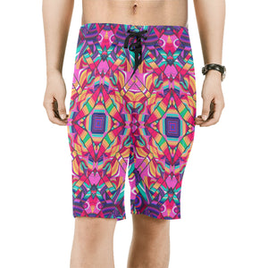 Valhalla Men's All Over Print Board Shorts (Model L16)