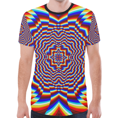 Focused New All Over Print T-shirt for Men (Model T45)