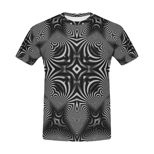 B+W All Over Print T-Shirt for Men (USA Size) (Model T40)