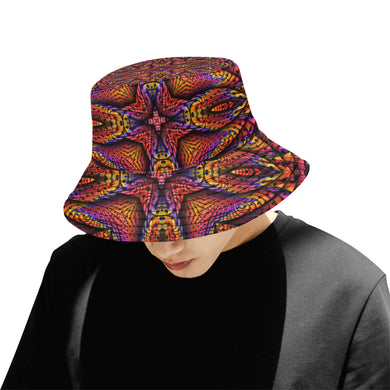 Elemental Fire All Over Print Bucket Hat for Men