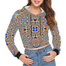 Chrysalis All Over Print Crop Hoodie for Women (Model H22)