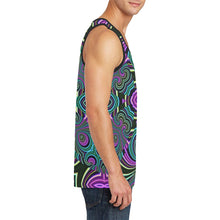 Neon Leafs Men's All Over Print Tank Top (Model T57)
