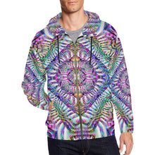Coral Reefer All Over Print Full Zip Hoodie for Men (Model H14)