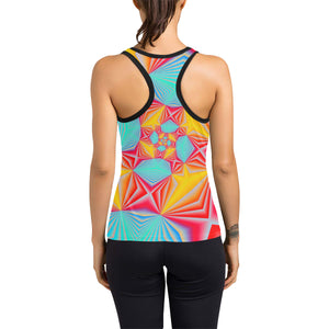 Vortex Women's Racerback Tank Top (Model T60)
