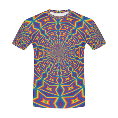 Groovy All Over Print T-Shirt for Men (USA Size) (Model T40)