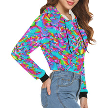 Rainbowbubbles All Over Print Crop Hoodie for Women (Model H22)