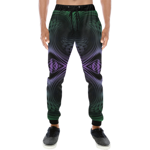 Unfolding Men's All Over Print Sweatpants (Model L11)