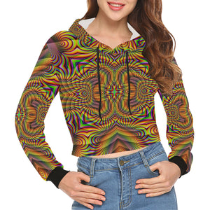 Harmonic All Over Print Crop Hoodie for Women (Model H22)