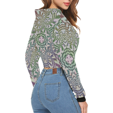 Building Empires All Over Print Crop Hoodie for Women (Model H22)