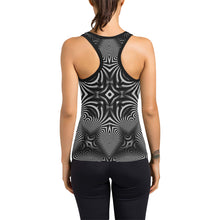 B+W Women's Racerback Tank Top (Model T60)