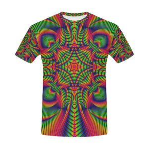 Tropical All Over Print T-Shirt for Men (USA Size) (Model T40)