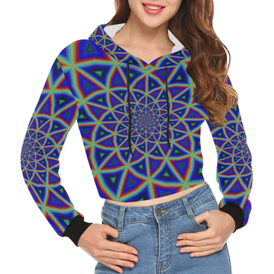 Full Spectrum All Over Print Crop Hoodie for Women (Model H22)