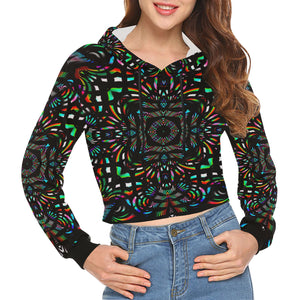 Cathedral All Over Print Crop Hoodie for Women (Model H22)